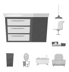 Design of furniture and apartment logo set vector