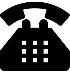 Dial phone vector