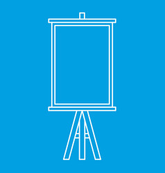 easel icon outline style vector image