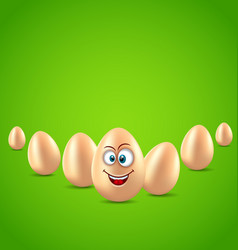 Easter background with crazy paschal egg vector