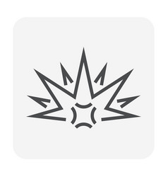 explode icon black vector image