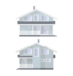Family house in 2 views vector