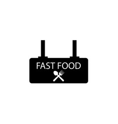fast food sign icon element of travel icon for vector image
