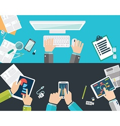 Flat design concepts for business analysis and vector image