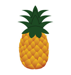 flat design icon of pineapple in ui colors vector image