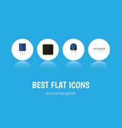 flat icon device set of transducer receptacle vector image