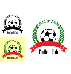 Football club emblems vector