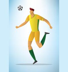 football player 14 vector image