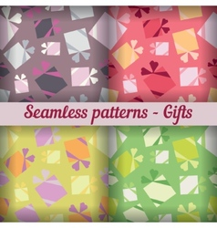 Gifts Seamless pattern set Abstract background vector image vector image