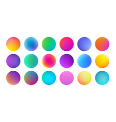 Gradient color circles with watercolor vector