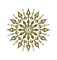 Green mandala ornament vector