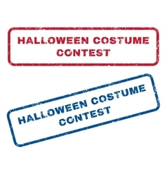 Halloween Costume Contest Rubber Stamps vector
