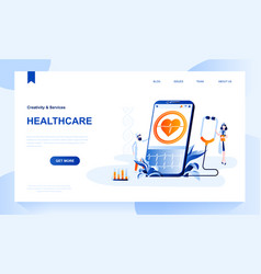 healthcare landing page template vector image