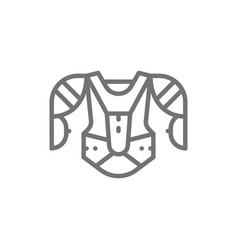 hockey uniform sports sweater sweatshirt line vector image