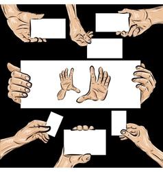 Holding hands set vector