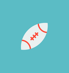 Icon flat rugby element of vector