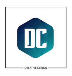 initial letter dc logo template design vector image