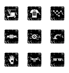 Innovation icons set grunge style vector