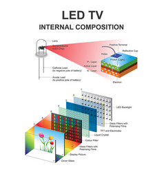 internal composition led structural vector image