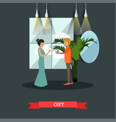 jewelry gift concept in flat vector image