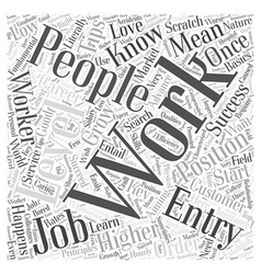 Jh entry level jobs word cloud concept vector