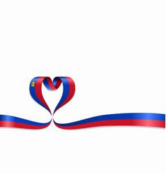 liechtenstein flag heart-shaped ribbon vector image