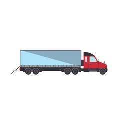 loading commercial freight truck isolated icon vector image