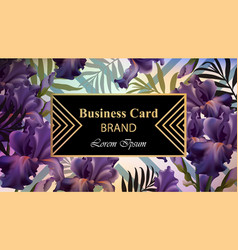 luxury card with flowers beautiful vector image