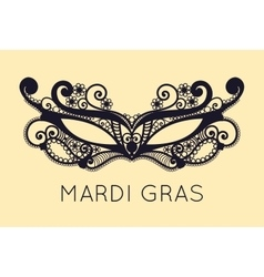 Mardi Gras mask of lace collection set vector