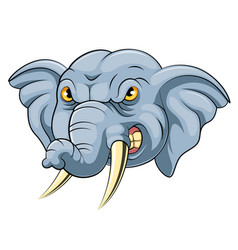 Mascot head an angry elephant vector