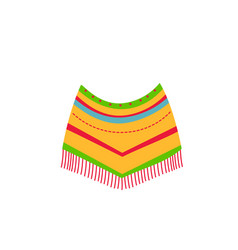 mexican native american indian poncho ethnic vector image