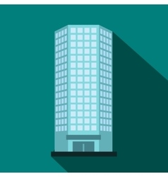 Modern office building icon flat style vector image
