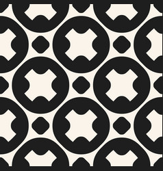 monochrome geometric seamless circles pattern vector image