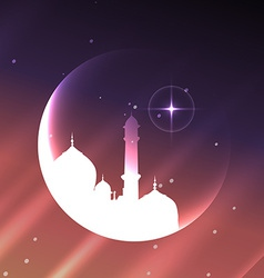 muslim mosque design vector image