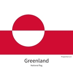 National flag of Greenland with correct vector