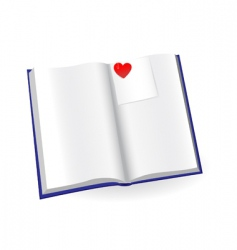 Notepad with sticker and heart vector
