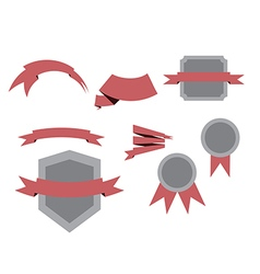 Objects ribbons set vector