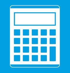 Office school electronic calculator icon white vector
