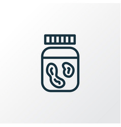 peanut butter icon line symbol premium quality vector image
