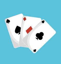 poker cards casino icon vector image