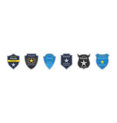 Police badge department emblem shield vector