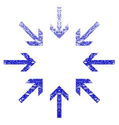 Pressure arrows grunge textured icon vector