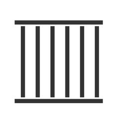 Prison bars glyph icon vector