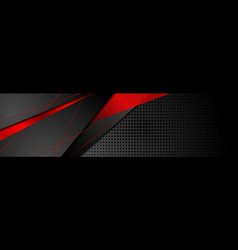 red and black abstract corporate banner design vector image