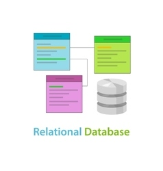 Relational database data table related symbol vector