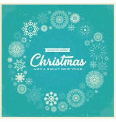 retro merry christmas greetings vector image