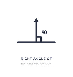 Right angle 90 degrees icon on white vector