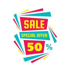 Sale special offer 50 - creative banner vector