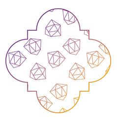 Seamless pattern label shape diamond decoration vector