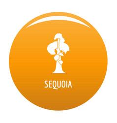 Sequoia icon orange vector
